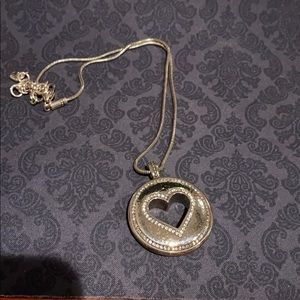 Brighton Reversible heart necklace with pendant